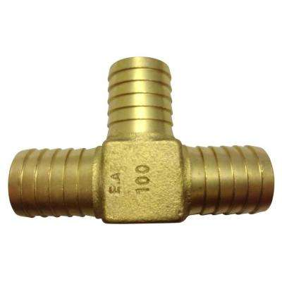 1 in. x 1 in. x 1 in. Barbed Brass Yard Hydrant Tee