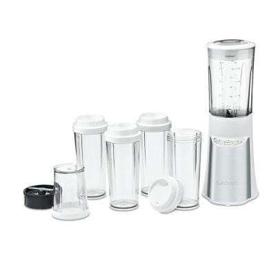 15-Piece White Compact Portable Blender with Chopping System
