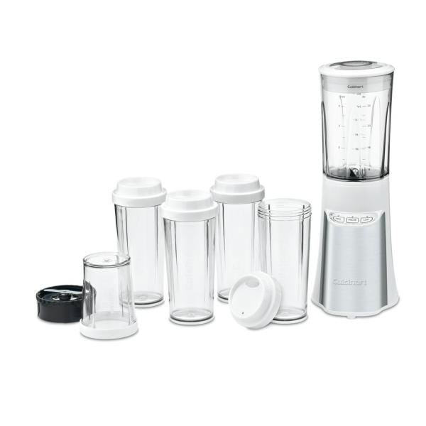 Cuisinart 15-Piece White Compact Portable Blender with Chopping System CPB-300W