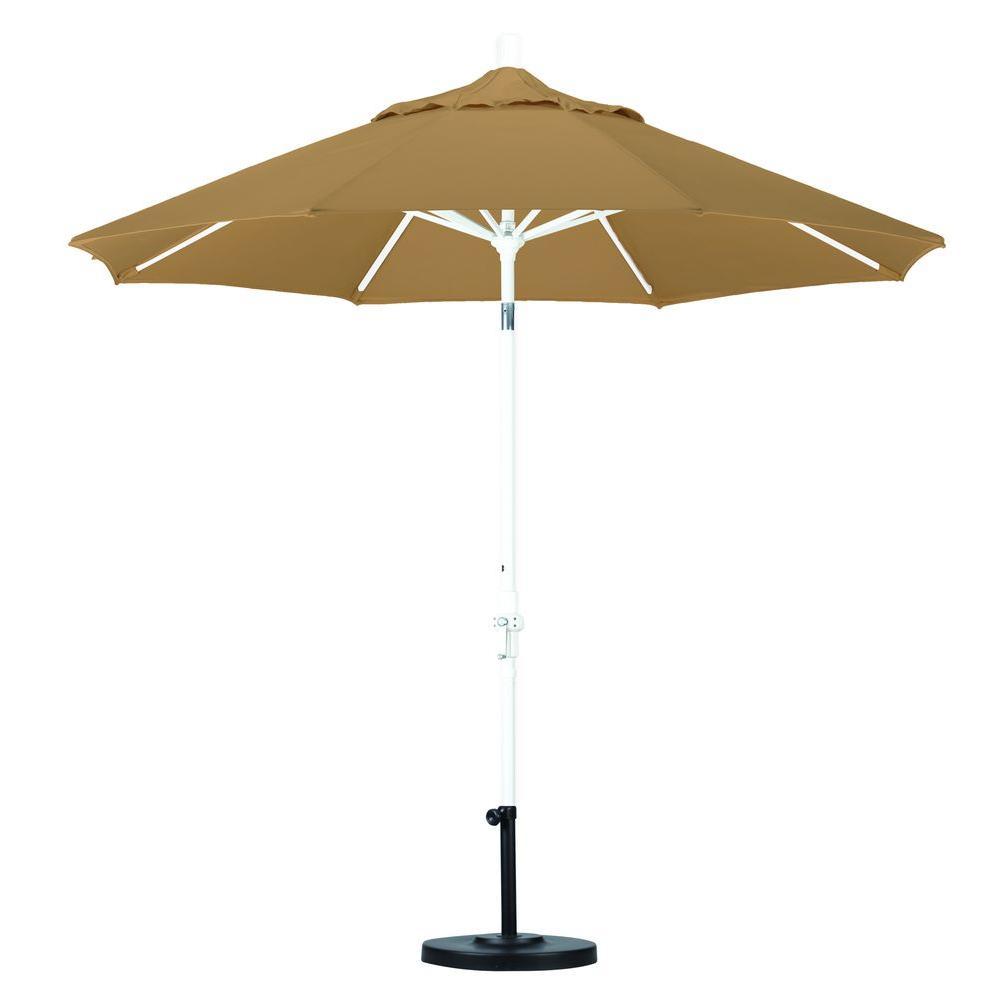 Attractive California Umbrella 9 Ft. Aluminum Collar Tilt Patio Umbrella In Straw  Pacifica