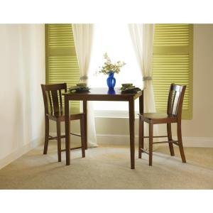 Espresso Solid Wood Counter Height Table