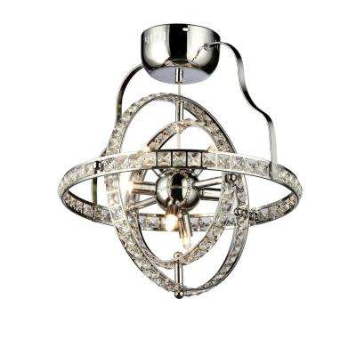 Katie's Crystal 4-Light Chrome Chandelier