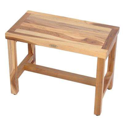 EarthyTeak Classic 24 in. Teak Shower Bench
