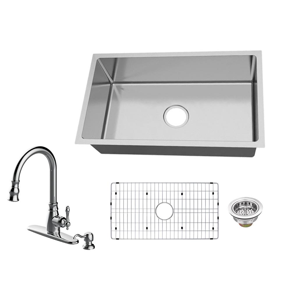 Kitchen Sink Keeps Backing Up: Glacier Bay All-in-One Undermount 18-Gauge Stainless Steel