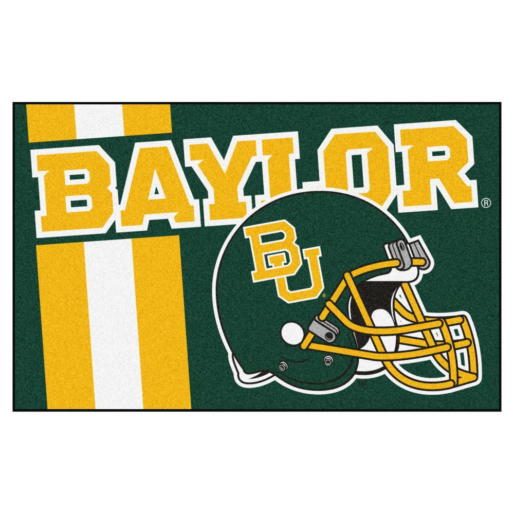 NCAA Baylor University 19 in. x 30 in. Uniform Style Starter Door Mat