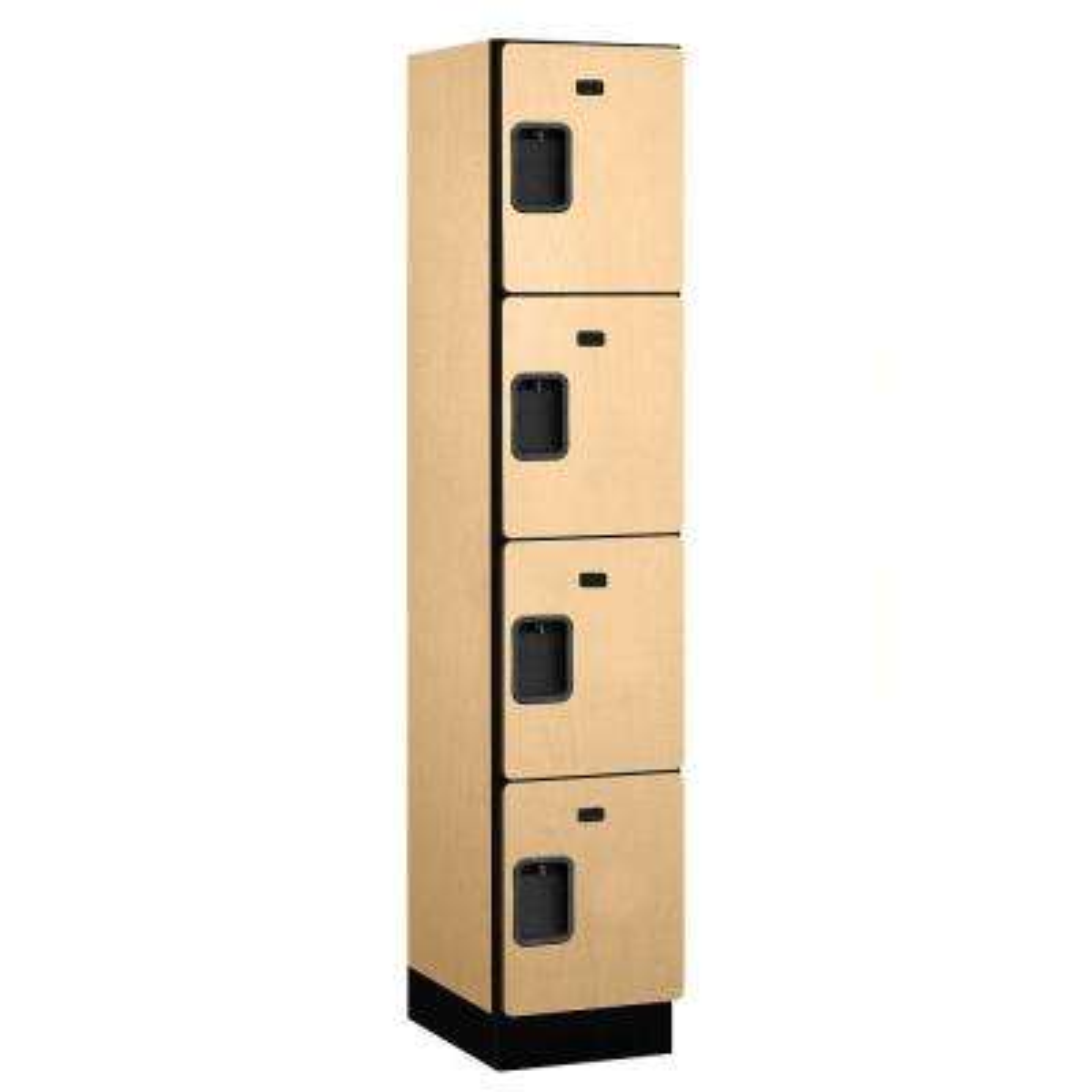 24000 Series 4-Tier 18 in. D Extra Wide Designer Particle Board Locker in Maple