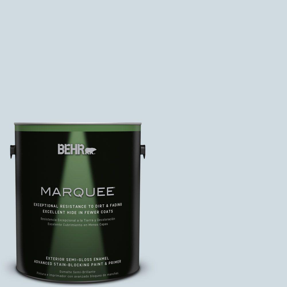 1 gal. #MQ3-57 Siberian Ice Semi-Gloss Enamel Exterior Paint