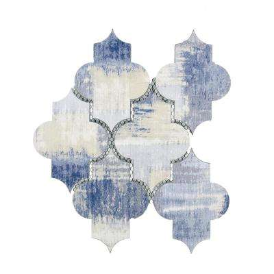 Nature Small Lantern Cement Blue 10 in. x 12 in. x 6.35 mm Glass Mosaic Tile
