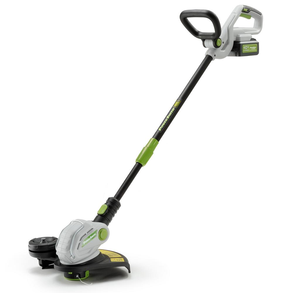 PowerSmith 40-Volt Lithium-Ion Cordless String Trimmer 2.5 Ah Battery and Charger Included