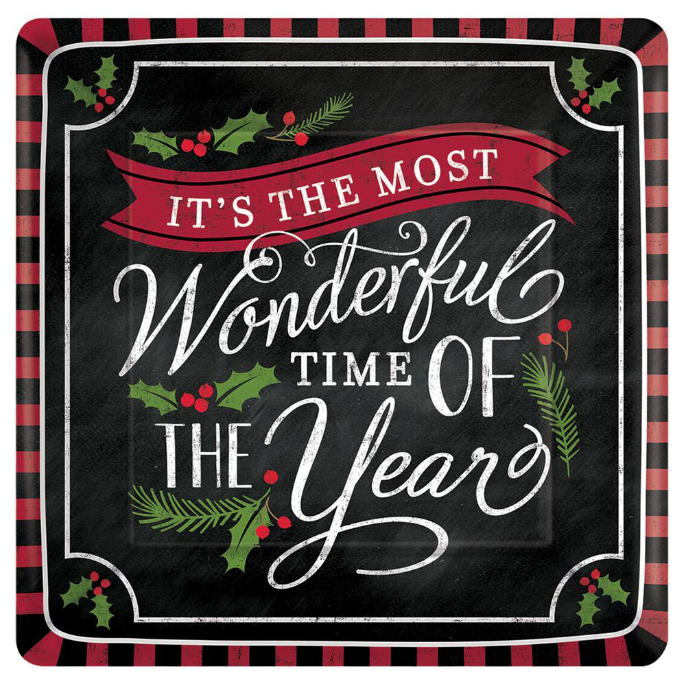 AMSCAN Most Wonderful Time 7.75 in. x 7.75 in. Paper Chri...