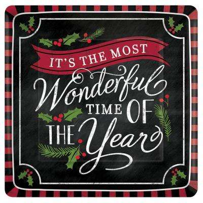 Most Wonderful Time 7.75 in. x 7.75 in. Paper Christmas Dinner Napkin (36-Count, 3-Pack)
