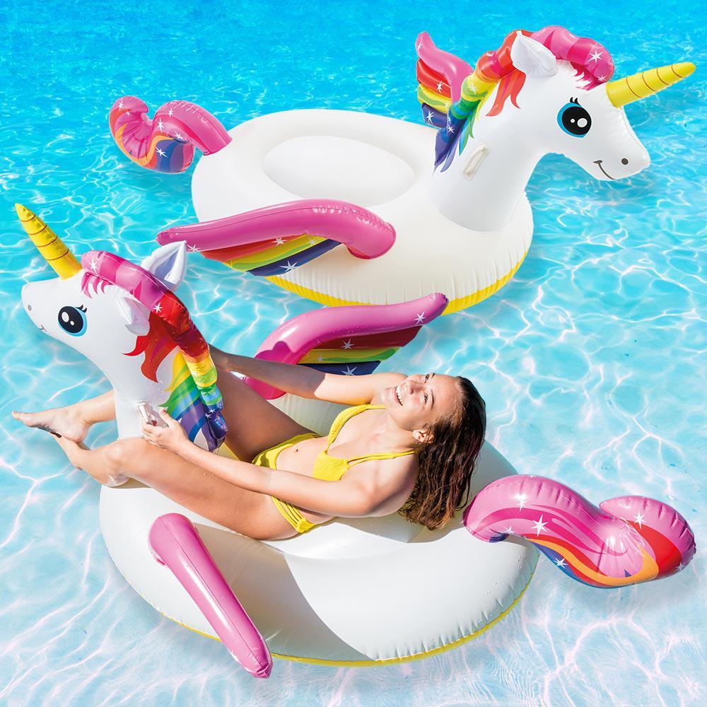 Unicorn Ride-On Pool Float (2-Pack)