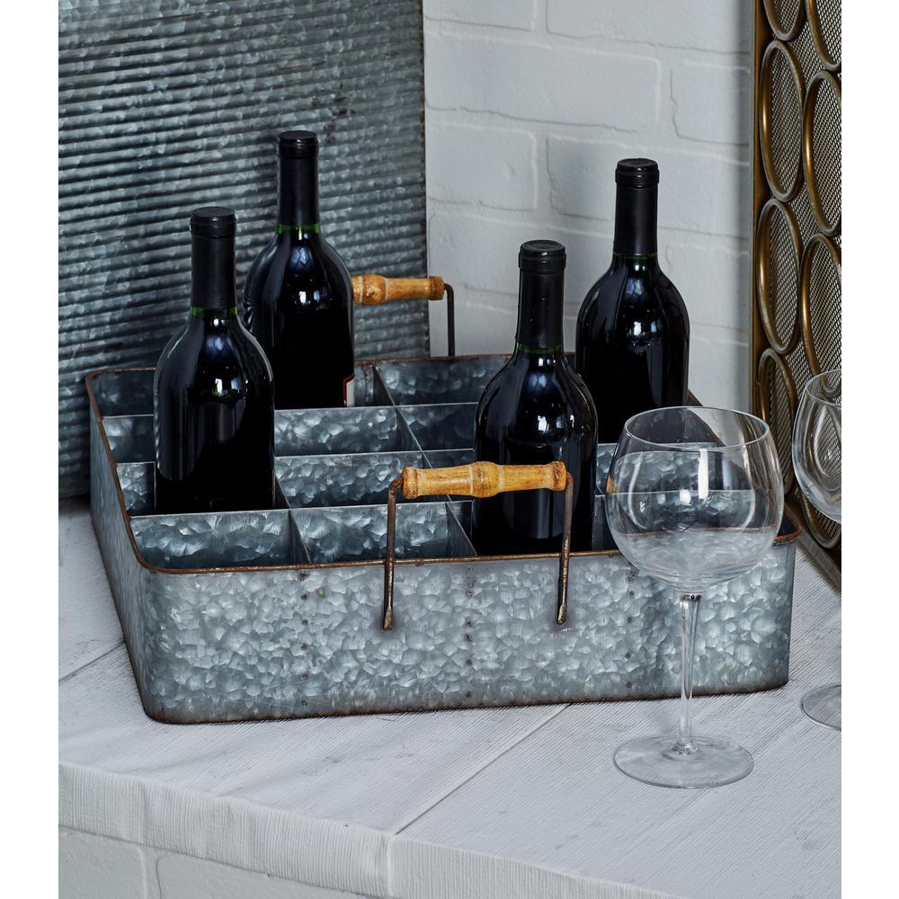 Gray Iron 16-Bottle Wine Holder