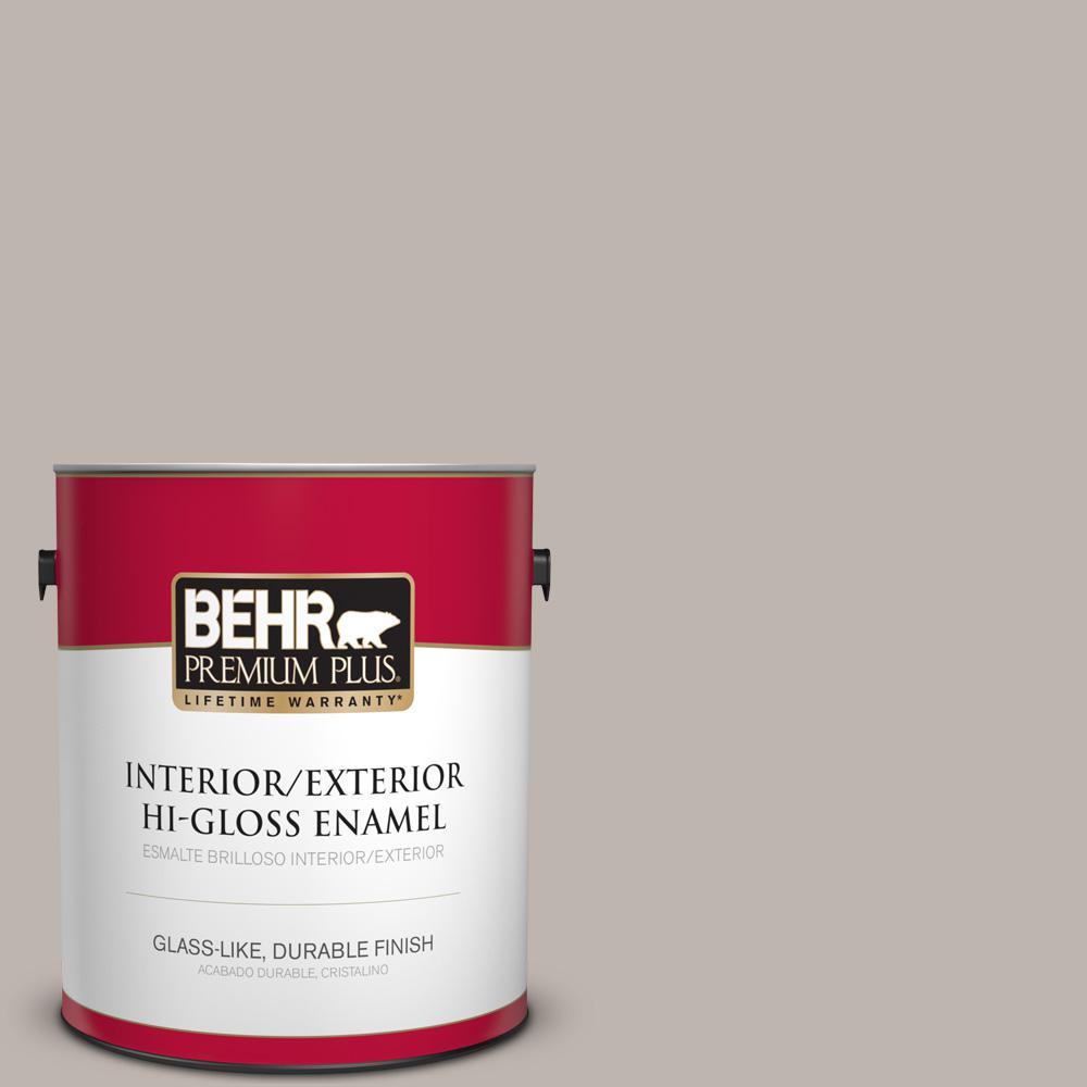 behr premium plus 1 gal ppu25 17 euro gray semi gloss. Black Bedroom Furniture Sets. Home Design Ideas