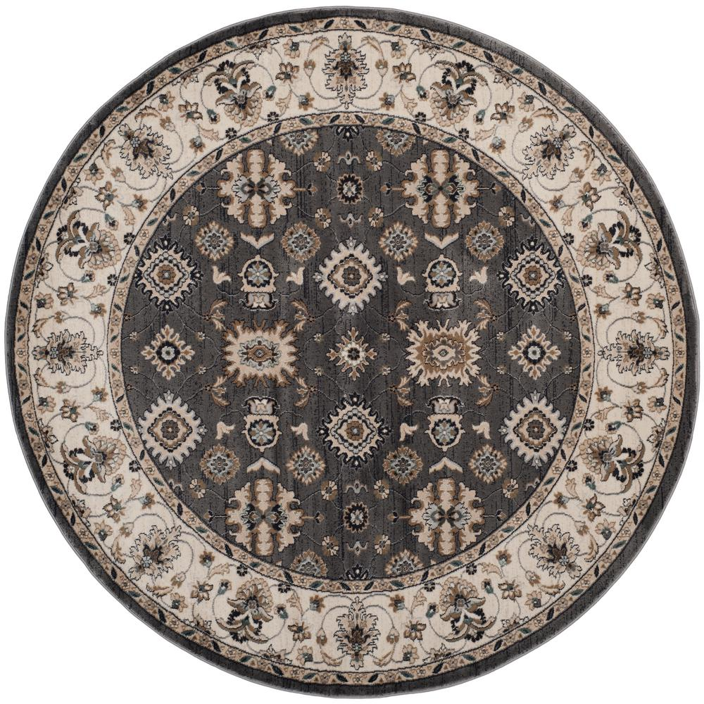 Safavieh Lyndhurst Gray Cream 7 Ft X 7 Ft Round Area Rug
