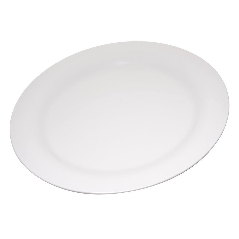 Carlisle Durus 9 in. Bone Melamine Narrow Rim Dinner Plate (24-Pack)