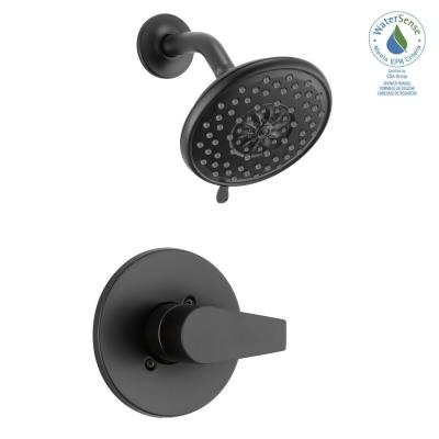 Xander 1-Handle Wall Mount Shower Trim Kit in Matte Black (Valve not Included)