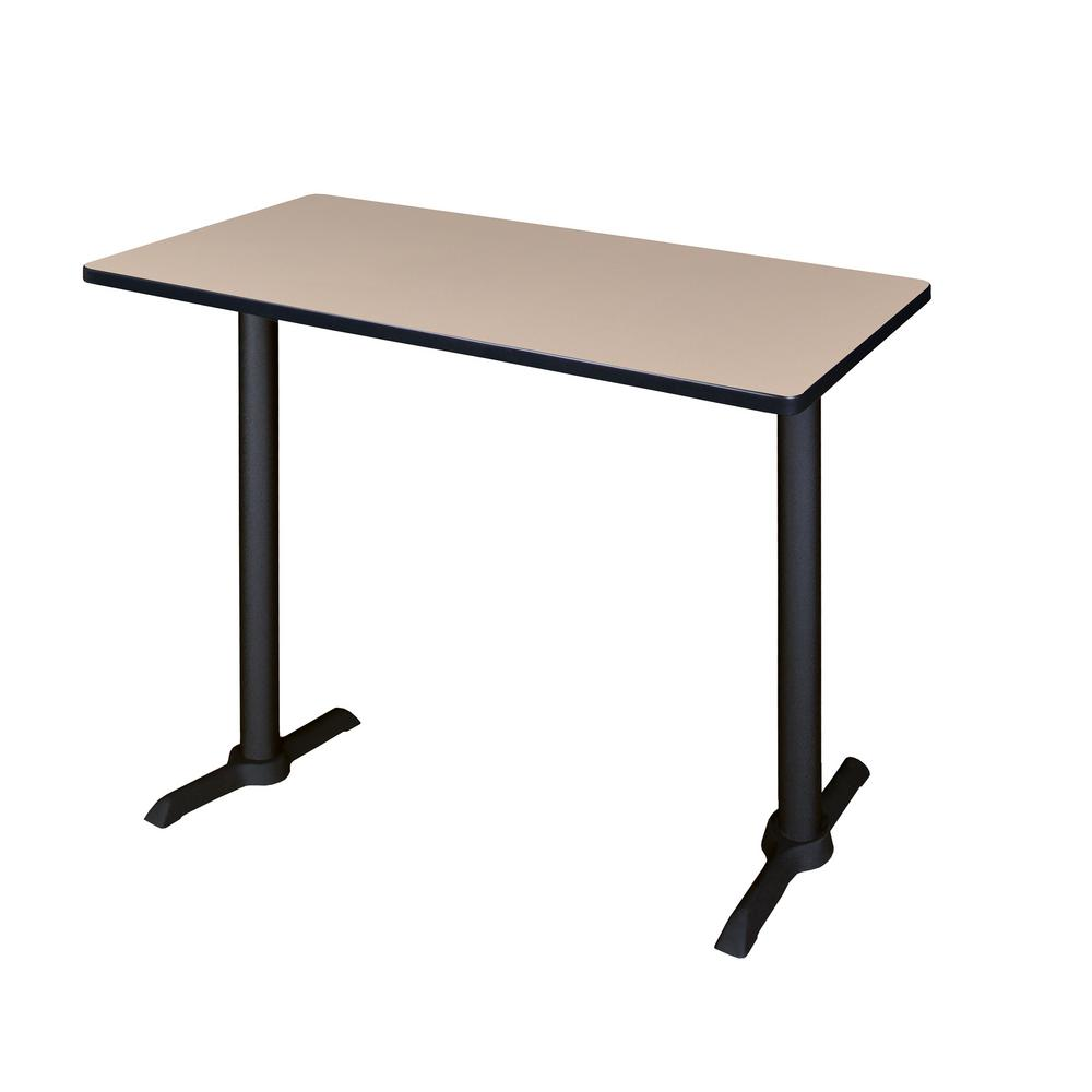 Cain Beige 48 in. W Cafe High Training Table