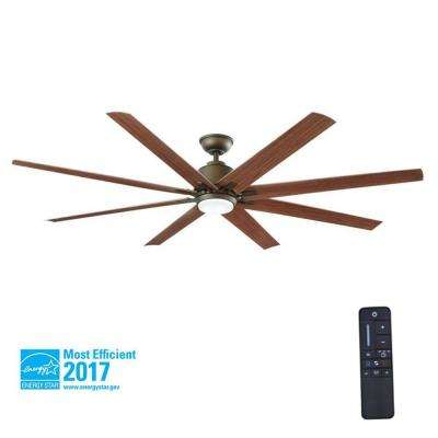 Kensgrove 72 in. LED Indoor/Outdoor Espresso Bronze Ceiling Fan with Light Kit and Remote Control
