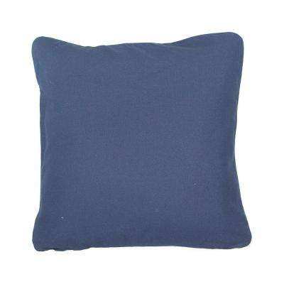 20 in. x 20 in. Navy  Standard Pillow with Green Eco Friendly Insert