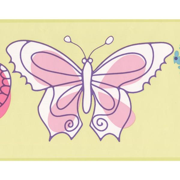 York Wallcoverings Butterfly Kids Baby Prepasted Wallpaper Border Pw4007b The Home Depot