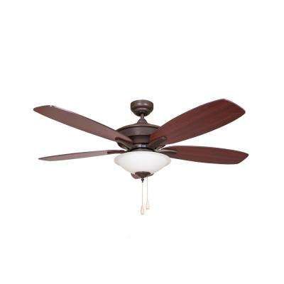 Alexis 52 in. Brushed Oil Rubbed Bronze Ceiling Fan