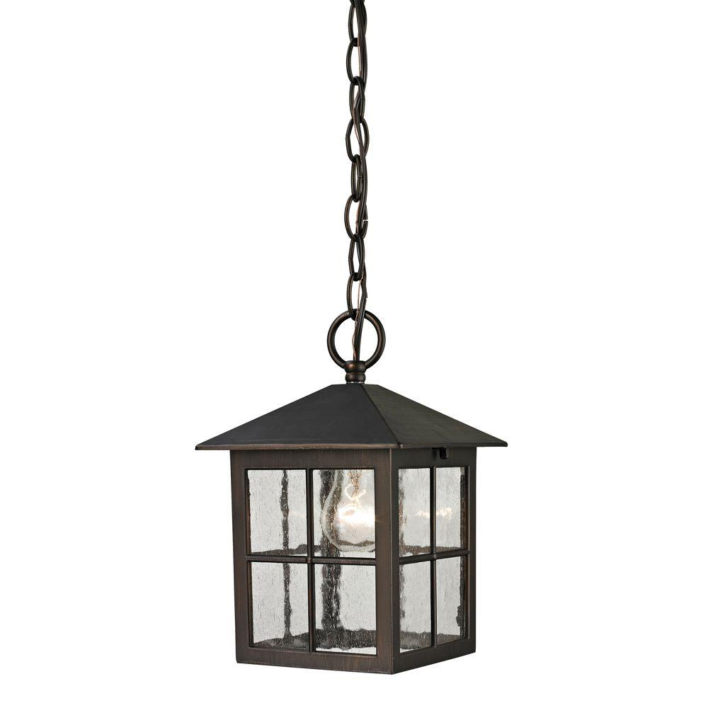 Titan Lighting Shaker Heights 1 Light Hazelnut Bronze Outdoor