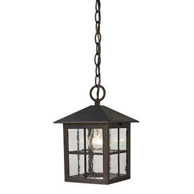 Shaker Heights 1-Light Hazelnut Bronze Outdoor Pendant