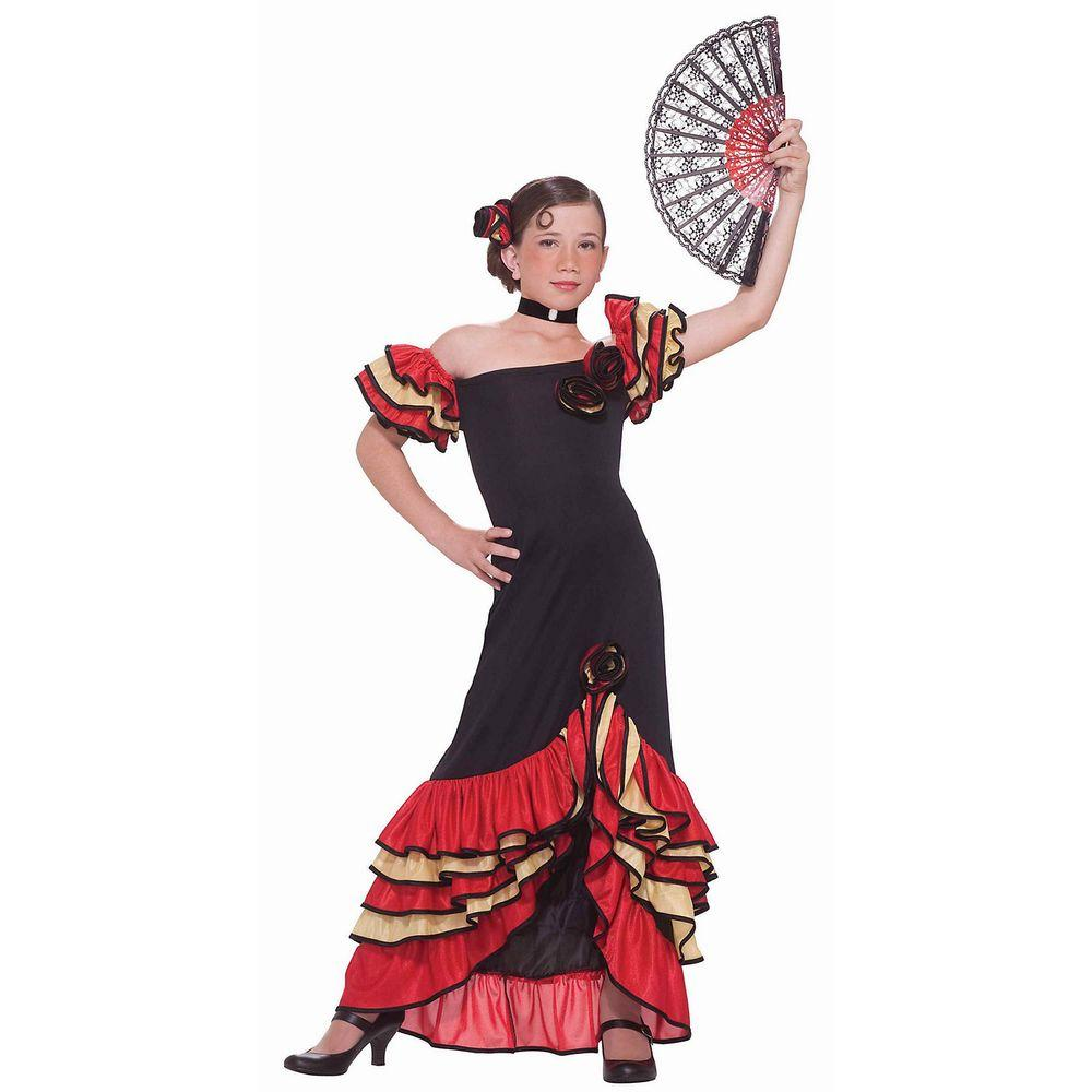 fa37a51135 Forum Novelties Girls Flamenco Girl Costume-F64224 M - The Home Depot