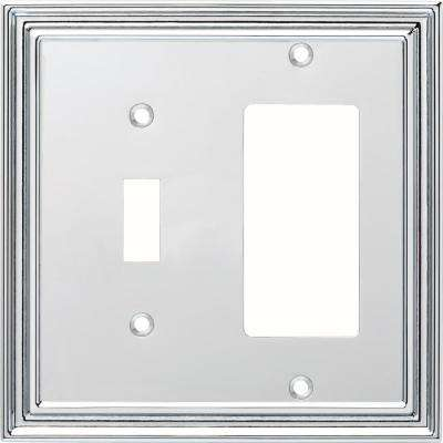 Silverton 2-Gang Switch and Decorator, Polished Chrome