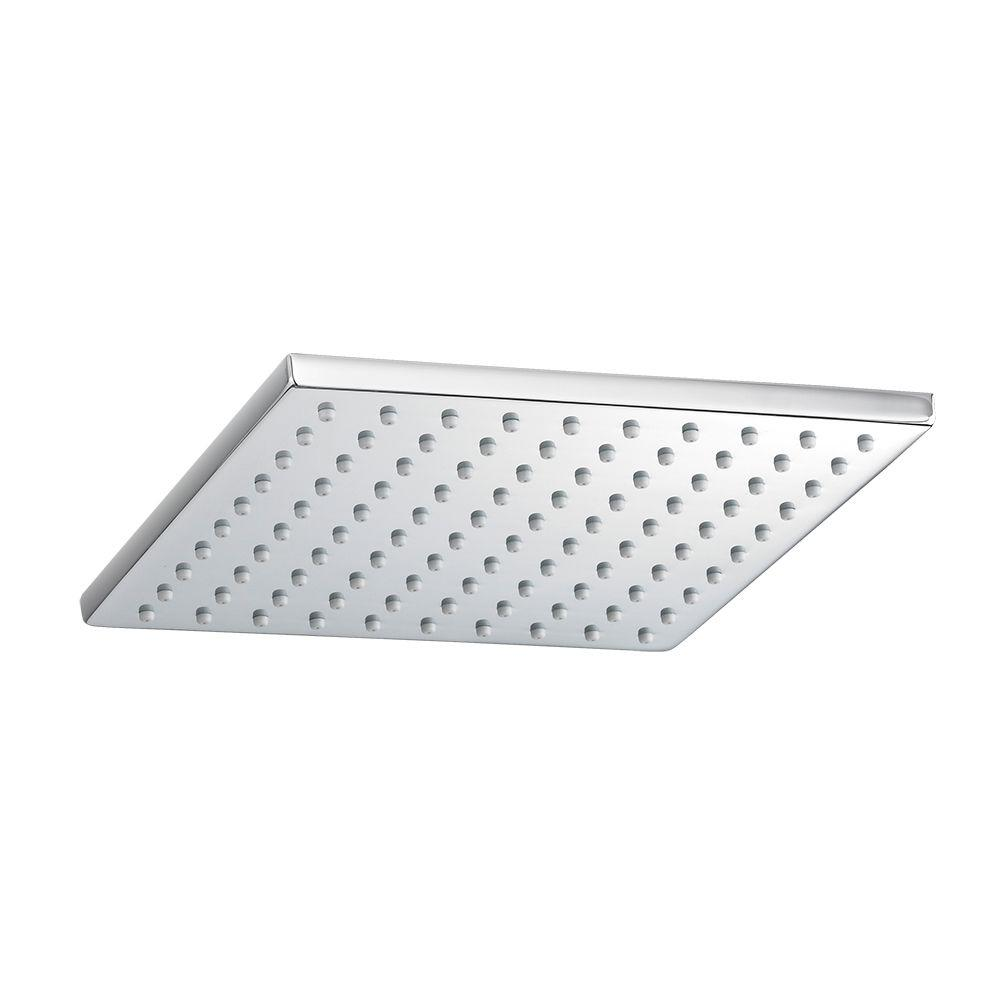 American Standard 1-Spray 8 in. Square Showerhead in Polished ...