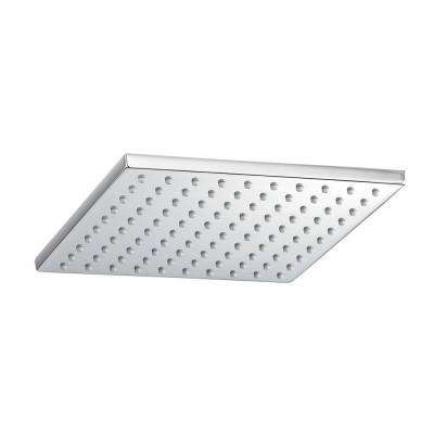 1-Spray 8 in. Square Showerhead in Polished Chrome