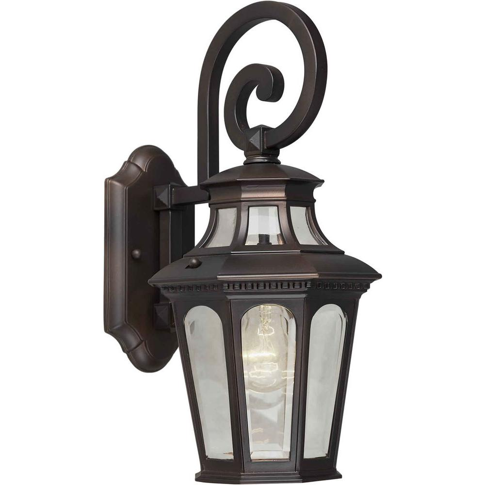Illumine 1 Light Outdoor Lantern Antique Bronze Finish Clear Beveled Glass Panels-DISCONTINUED