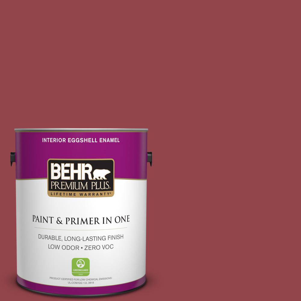 BEHR Premium Plus 1-gal. #M140-6 Circus Red Eggshell Enamel Interior Paint