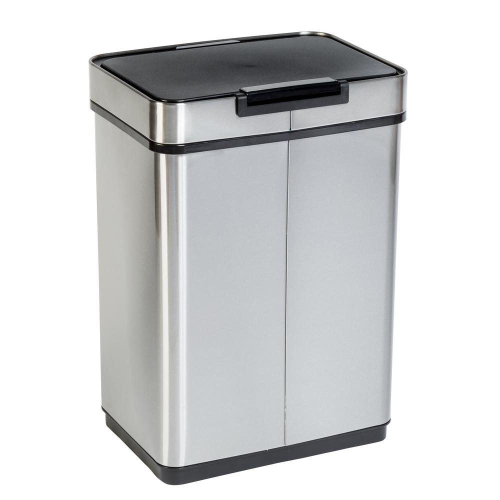 Honey-Can-Do 13 Gal. Stainless Steel Touchless Sensor Trash Can