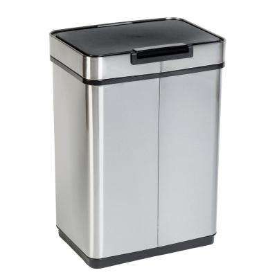 13 Gal. Stainless Steel Touchless Sensor Trash Can