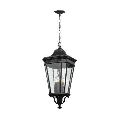 Cotswold Lane Black 4-Light Hanging Lantern