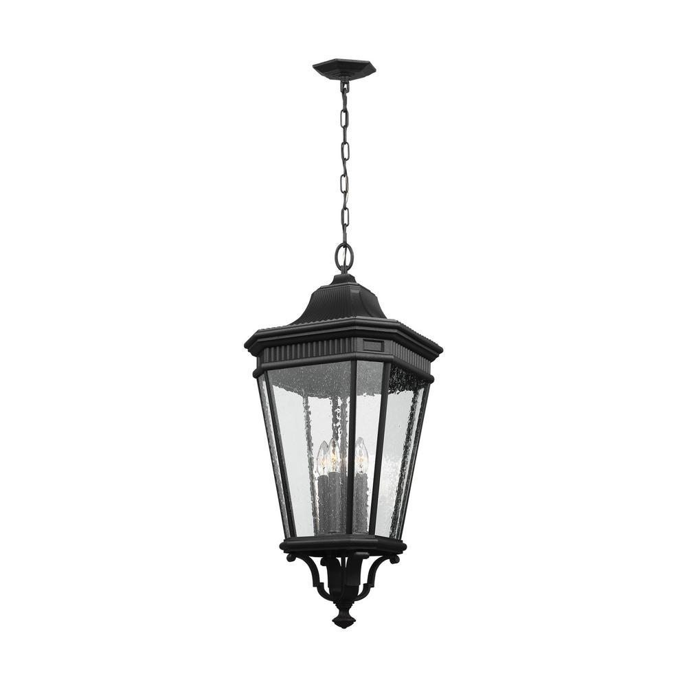 Cotswold Lane Black 4-Light Hanging Lantern