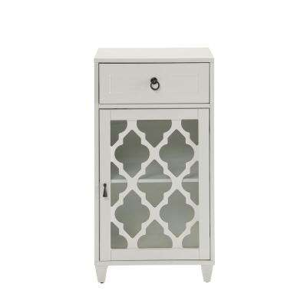 Ceara White Storage Cabinet