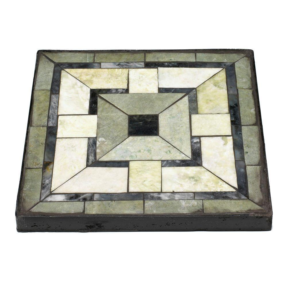 null 12 in. Square Tiffany Jade Mission Garden Stone