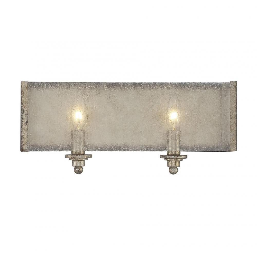 Dannelly 2-Light Oxidized Silver Bath Vanity Light