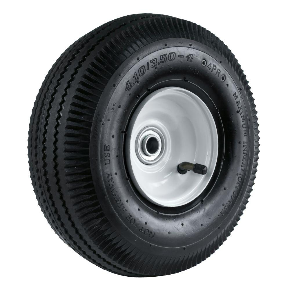 4.10/3.50-4 10 in. Sawtooth Hand Truck Wheel with 2-1/4 in. x