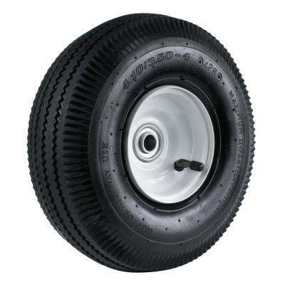 4.10/3.50-4 10 in. Sawtooth Hand Truck Wheel with 2-1/4 in. x 5/8 in. Offset Hub