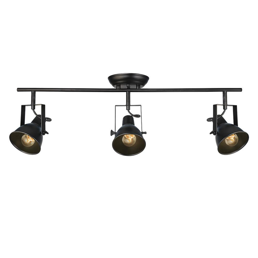 3-Light Black Track Lighting Kit