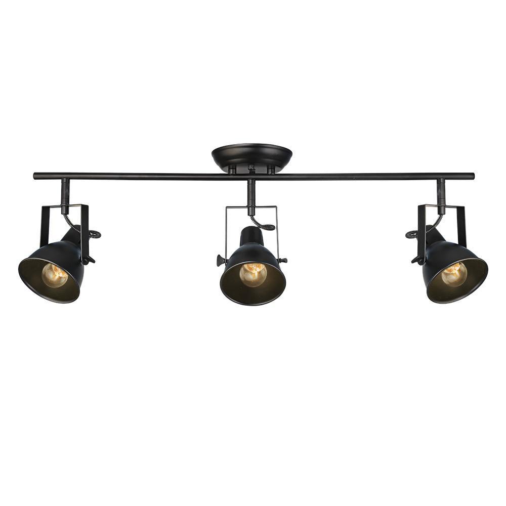 3-Light Black Track Lighting Kit