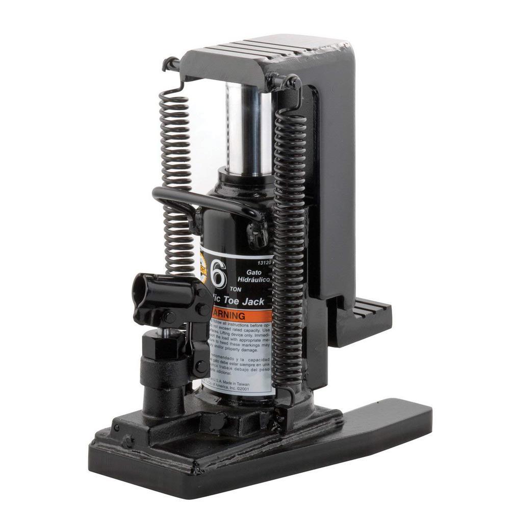 6-Ton Heavy-Duty Dual Positions Lift Hydraulic Toe Jack