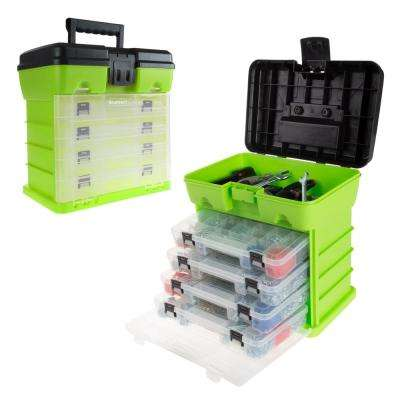 5-Compartment Small Parts Organizer, Green