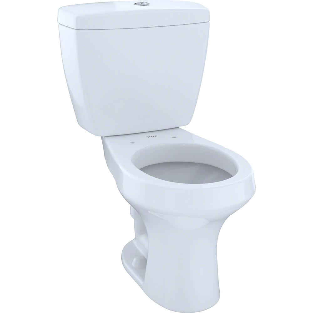 Toto Rowan 2 Piece 1 0 6 Gpf Dual Flush Round Toilet In Cotton White