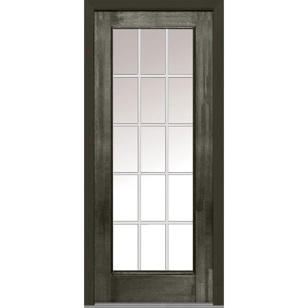 Fiberglass Entry Doors 3 4 Glass With Grilles : Mmi door in grilles between glass right hand