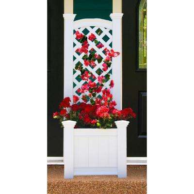 Kensington 23 in. x 65 in. Planter Box and Trellis